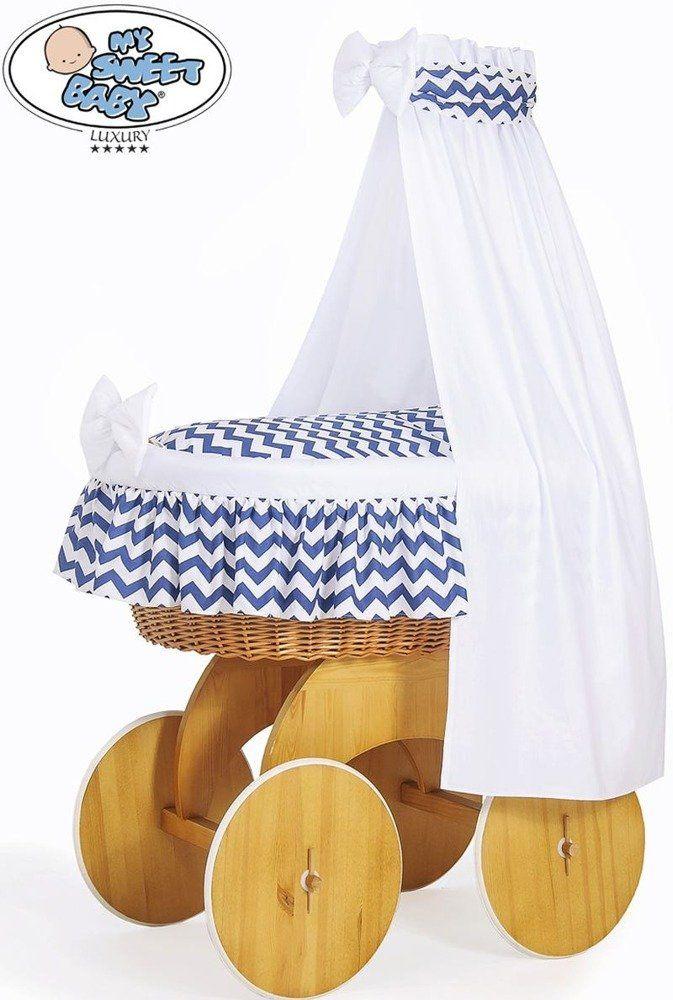 Kosz Mojżesza granatowa Hannah 50202903-My Sweet Baby, kosz dla niemowlaka
