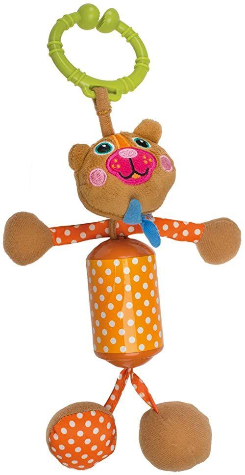 OOPS 18002.11 miękka kolekcja łatwa grzechotka niedźwiedź zabawka, wielokolorowa