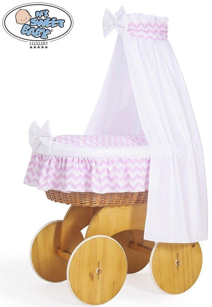 Kosz Mojżesza różowa Hannah 50202901-My Sweet Baby, kosz dla niemowlaka