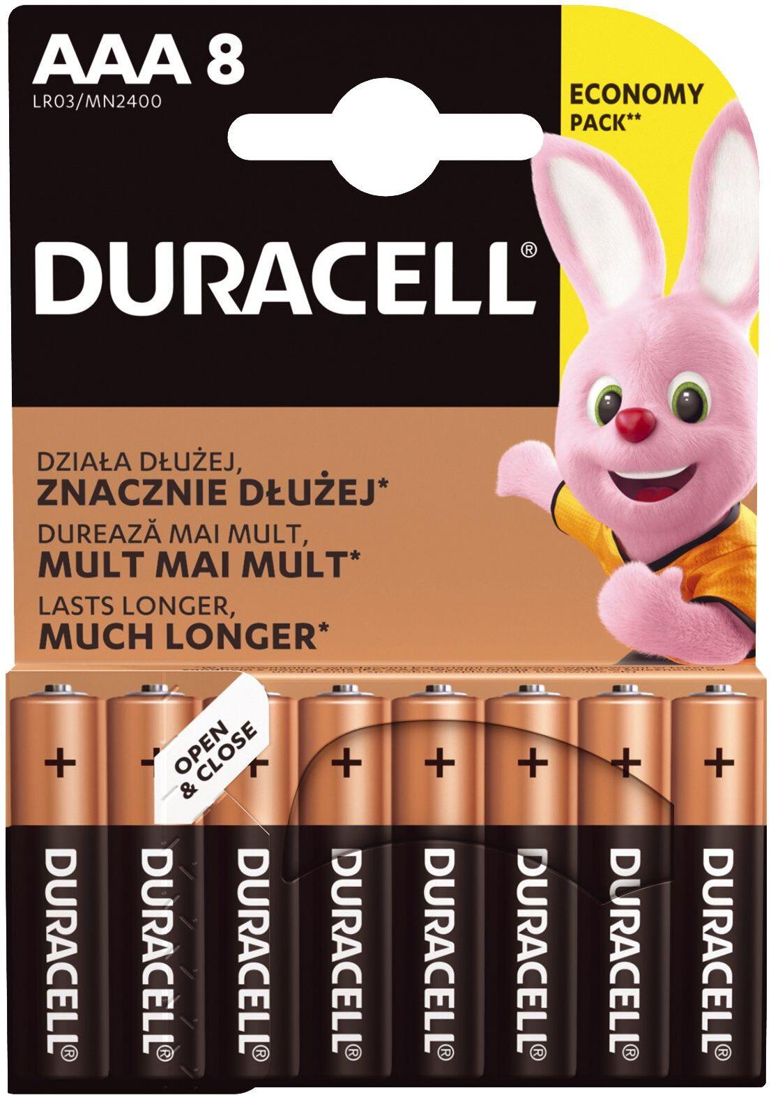 Baterie alkaliczne Duracell Basic LR03 AAA (blister) 12 sztuk