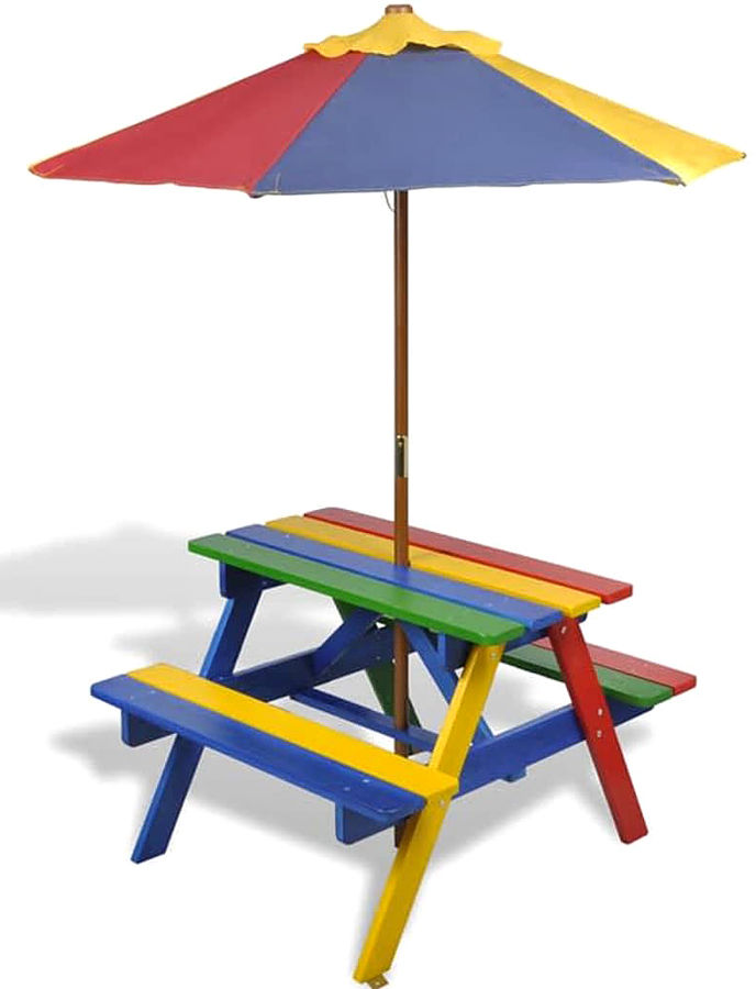 Kolorowy stół piknikowy dla dzieci - Loris