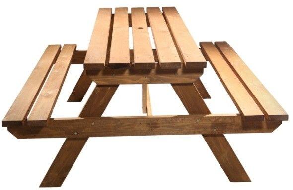 Ławka piknikowa GoodHome Agad brązowa