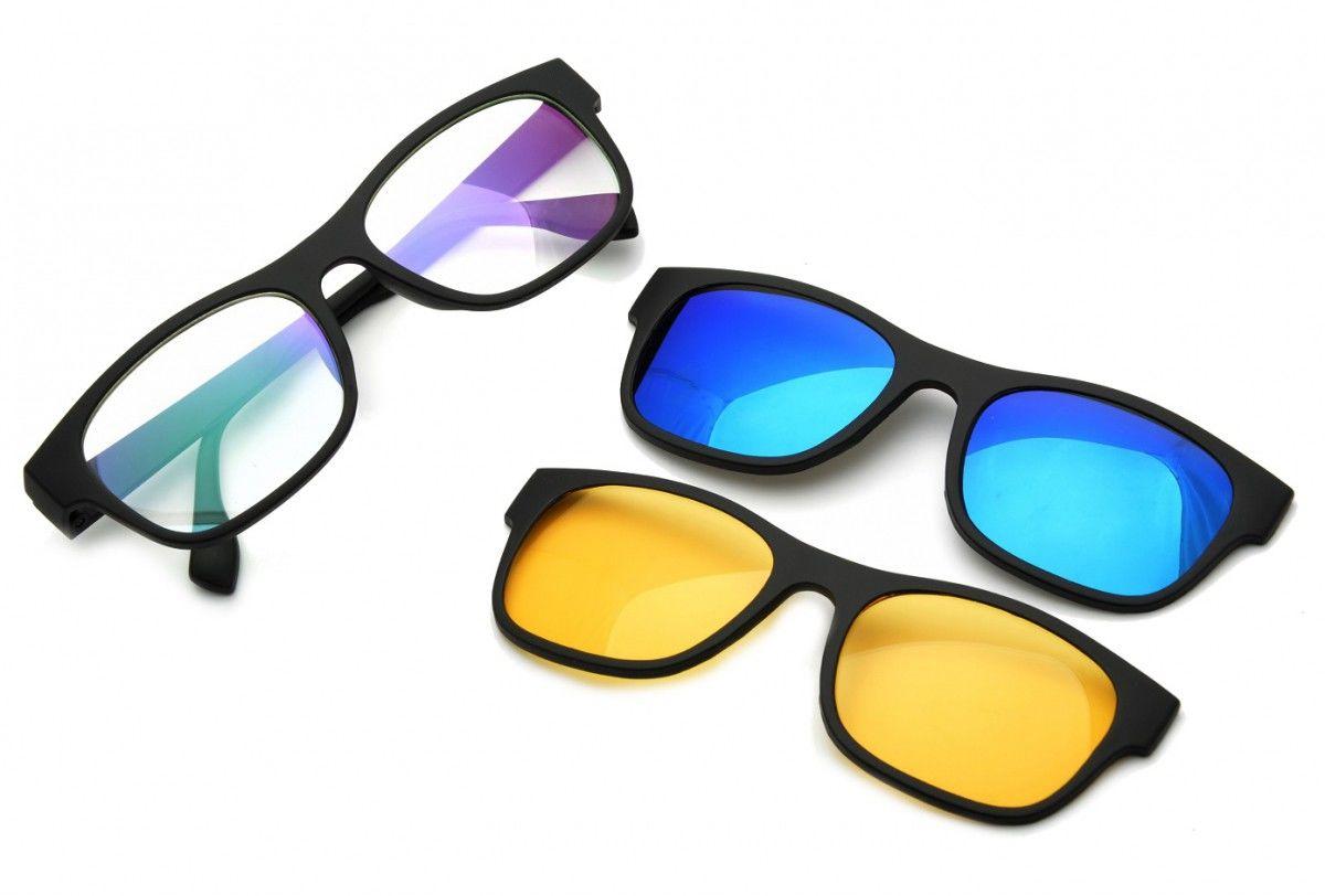 Nakładka Polaryzacyjna + Nakładka rozjaśniająca + Oprawki okulary z filtrem okularowe zerówki z antyrefleksem ST1230