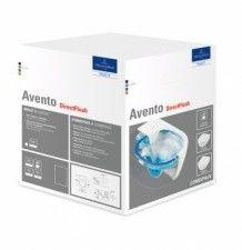 Avento V&B Combi-Pack miska WC podwieszana DirectFlush z deską sedesową wolnoopadającą odpływ poziomy white alpin 5656 HR 01