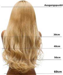 hair2heart Clip in Extensions, waga włosów 130 g, gładkie, 27 s, ciemny blond