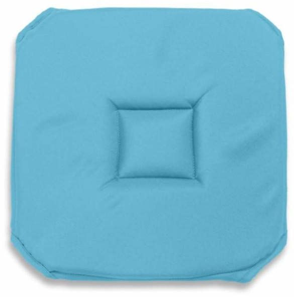 Soleil d''Ocre 008236 Alix tapicerka siedziska z poliestru, gobelin, 40 x 3 x 40 cm, niebieski/turkusowy