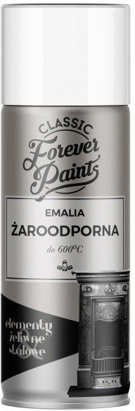 Emalia żaroodporna do 600 C Forever Paints 400 ml biała