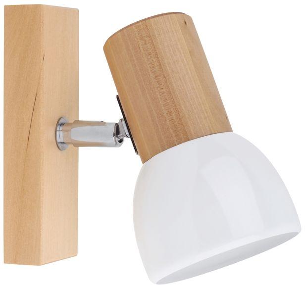 Spot Light 2224160 Svenda kinkiet lampa ścienna brzoza/chrom klosz metal biały 1xE27 60W IP20 9cm