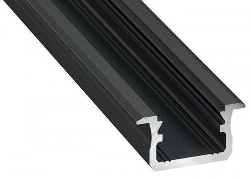 PROFIL wpuszczany czarny anodowany typ B 2 metry