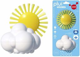 Moluk 2843071 Plui Weather zestaw, zestaw do zabawy, chmurka deszczowa i szczotka do zabawy, zabawka do wanny, zabawka edukacyjna