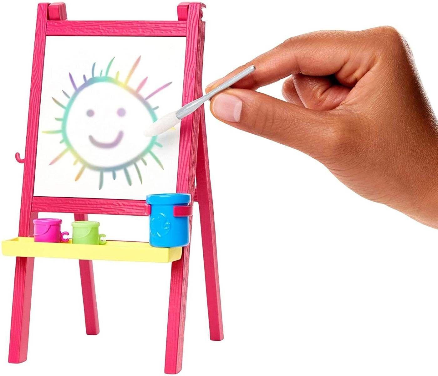 Barbie I Can Be Zestaw Kariera Nauczycielka plastyki Lalka i uczennica GJM30