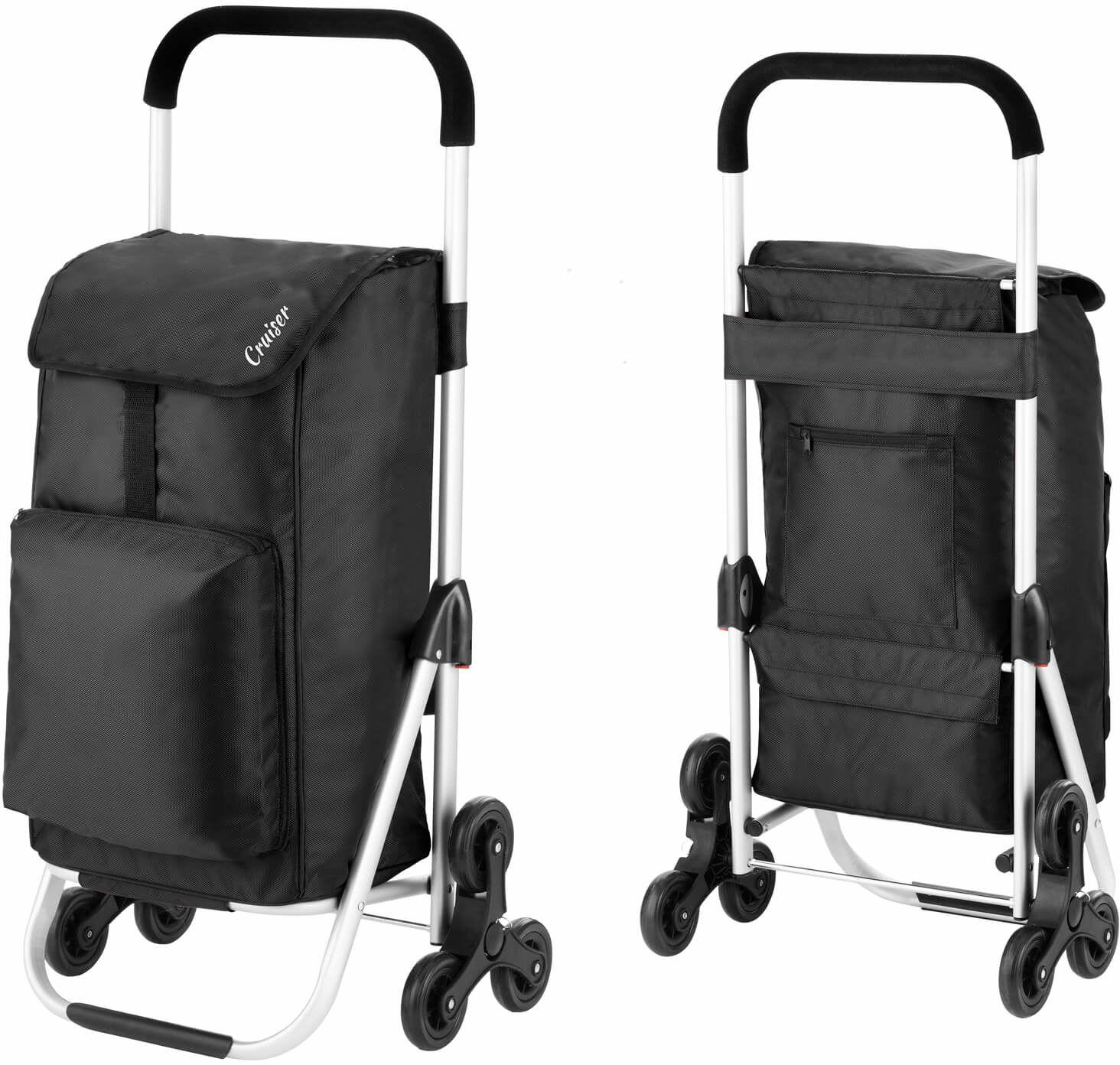 Wózek zakupowy do pokonywania schodów Cruiser Expert /czarny/