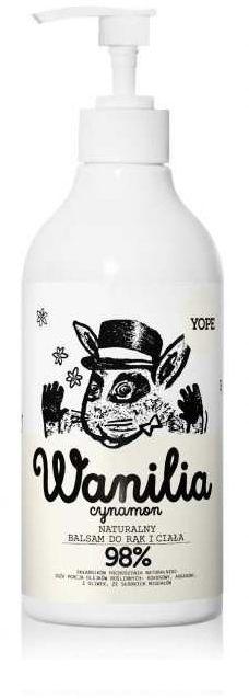 Yope balsam do rąk i ciała wanilia i cynamon 300ml