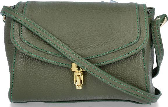 Uniwersalne Torebki Skórzane Listonoszki firmy Vittoria Gotti Zielona (kolory)