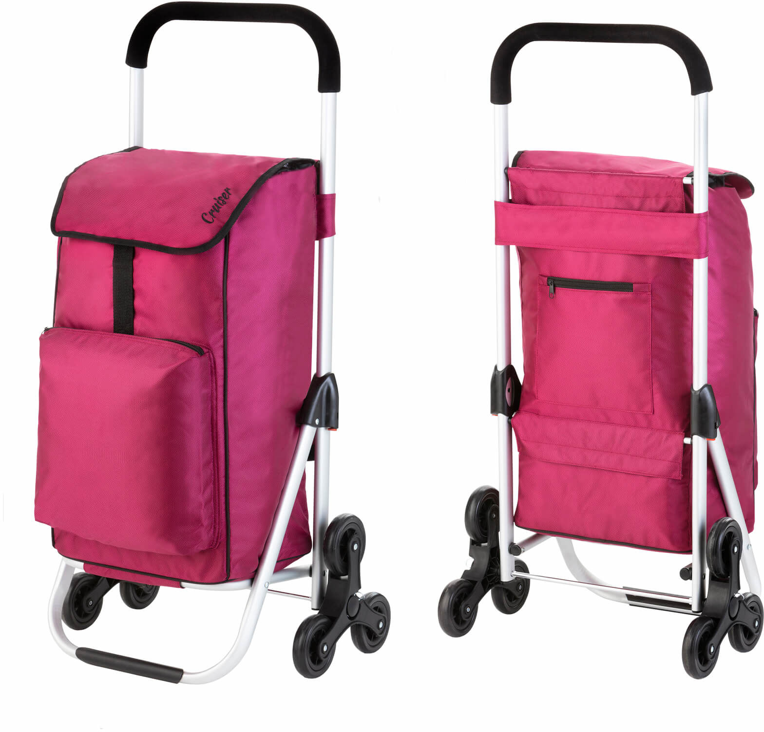 Wózek zakupowy do pokonywania schodów Cruiser Expert /fuksja/