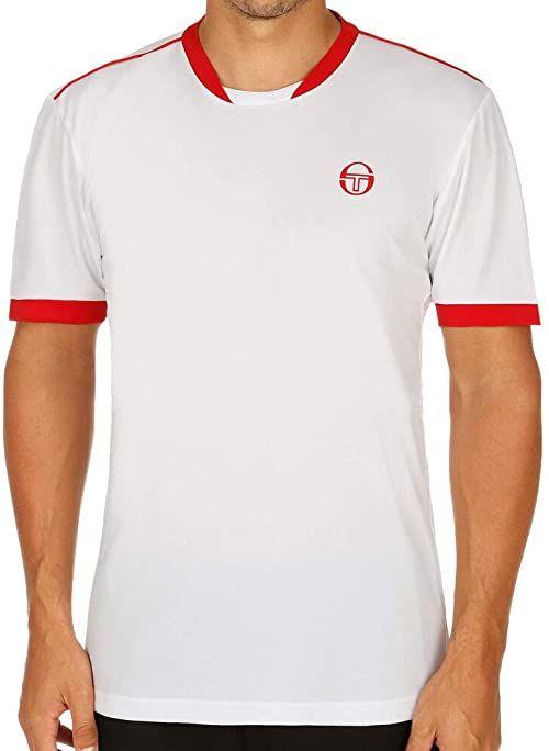 Sergio Tacchini Męska koszulka Club Tech T-shirt męski biały biały/czerwony S