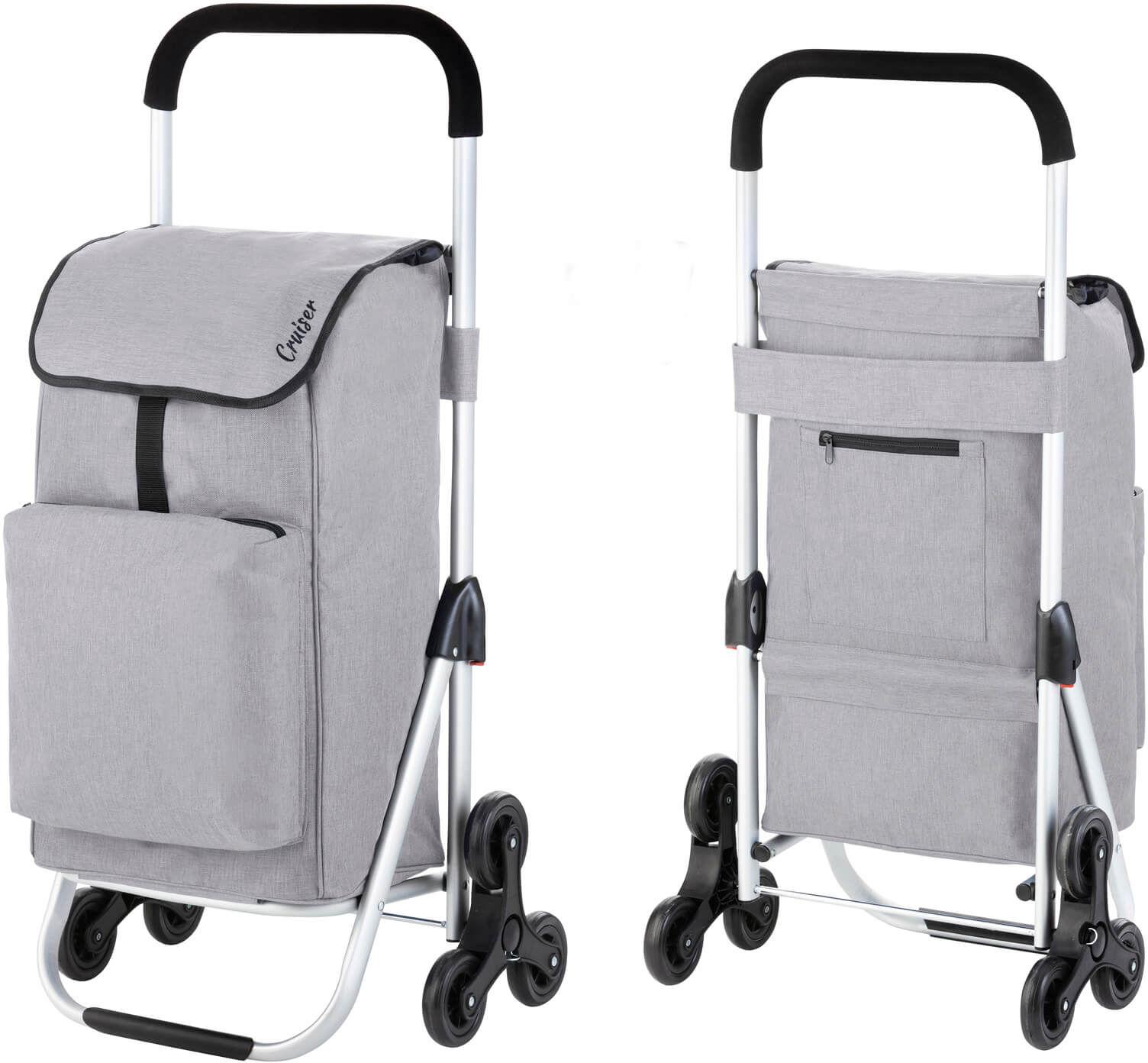 Wózek zakupowy do pokonywania schodów Cruiser Expert /szary/