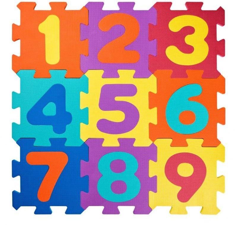 Duże piankowe puzzle Cyferki