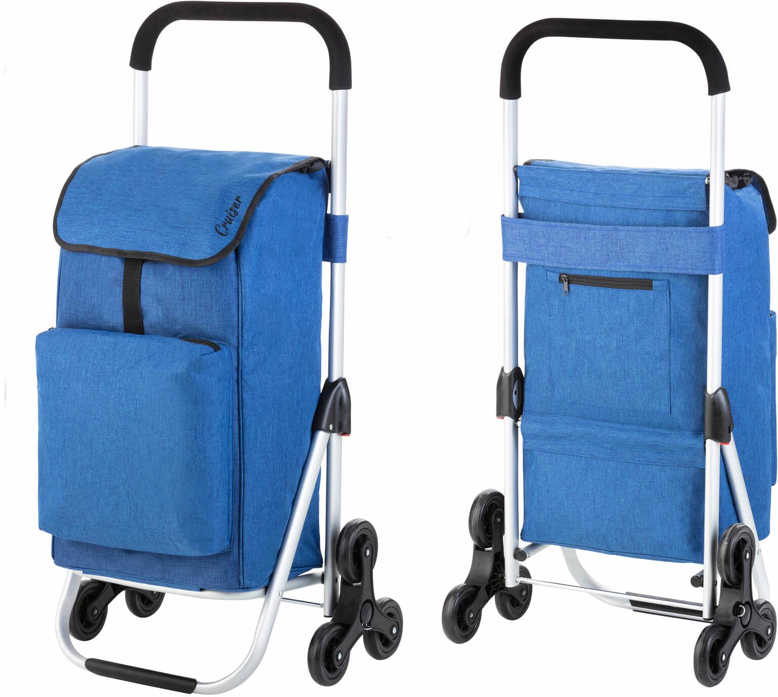 Wózek zakupowy do pokonywania schodów Cruiser Expert /niebieski/