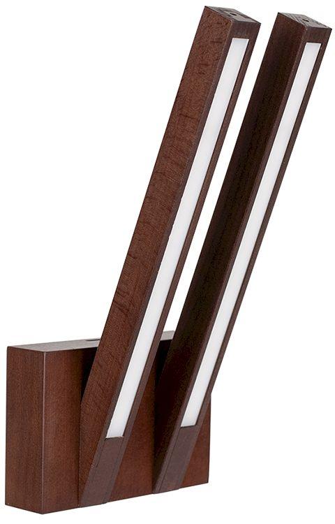 OFERTA MAGAZYNOWA Kinkiet Linus OUT 2437276 SPOTLight Premium Collection podwójna oprawa z drewna bukowego