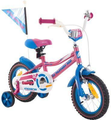 Rower dziecięcy INDIANA Roxy Kid 12 cali dla dziewczynki Różowy Dogodne raty! DARMOWY TRANSPORT!
