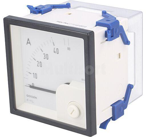 Panelowy miernik prądu AC analogowy 0 40/80A True RMS IP52 EQN72 40/80A