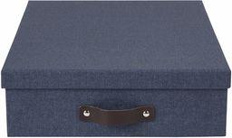 """Pudełko do przechowywania A4 """"Oskar"""" na listy, 26 x 35 x 9 cm (szer. x gł. x wys.) niebieskie"""