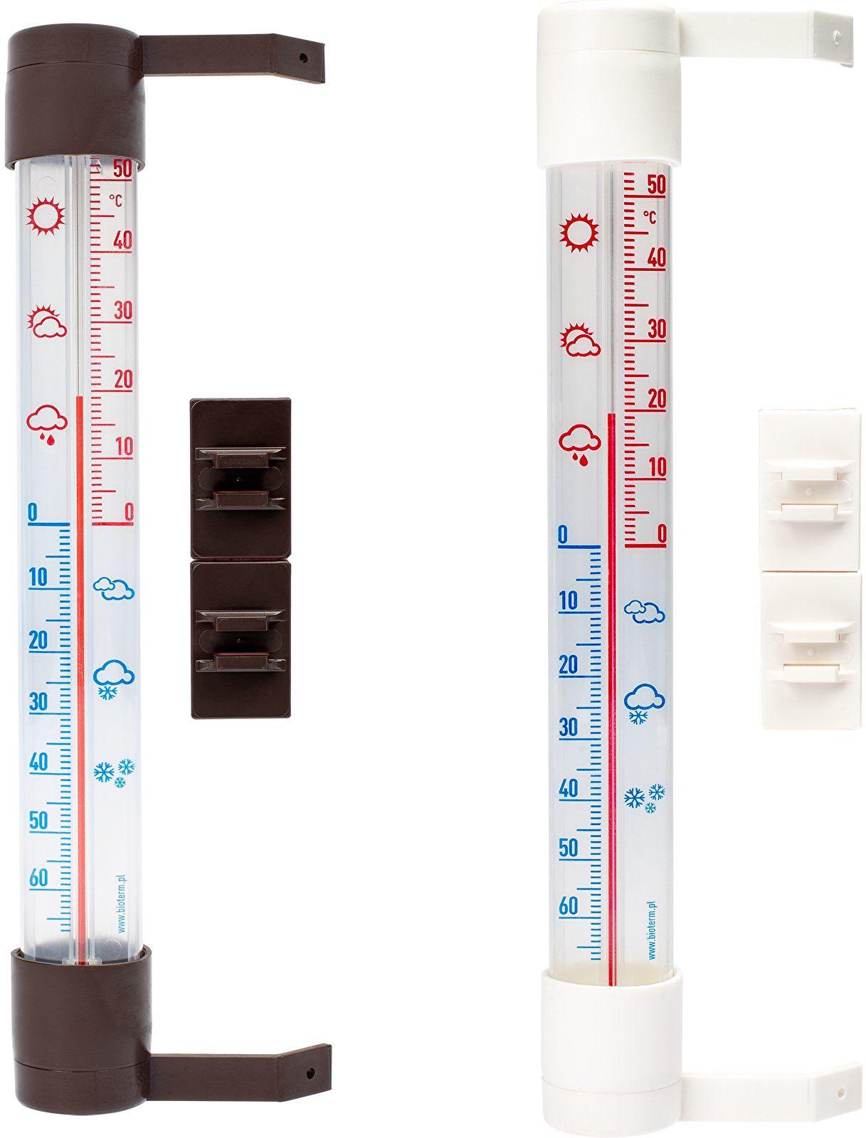 Termometr zewnętrzny z transparentną skalą