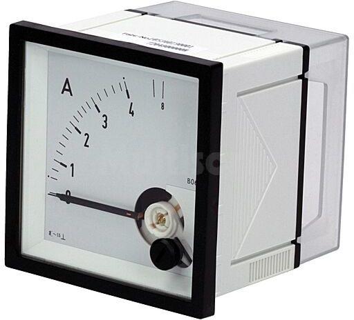 Panelowy miernik prądu AC analogowy 0 4/8A True RMS IP52 EQN72 4/8A