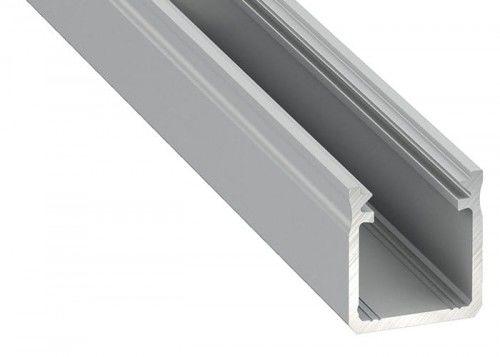 PROFIL nawierzchniowy wysoki srebrny anodowany typ Y - 2 metry