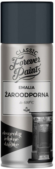 Emalia żaroodporna do 600 C Forever Paints 400 ml antracyt