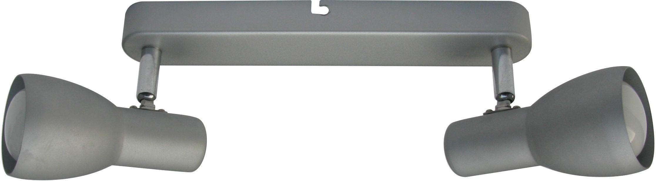 Candellux PICARDO 92-44211 oprawa oświetleniowa srebrno-szary stalowy klosz stalowy 2X40W E14 36cm