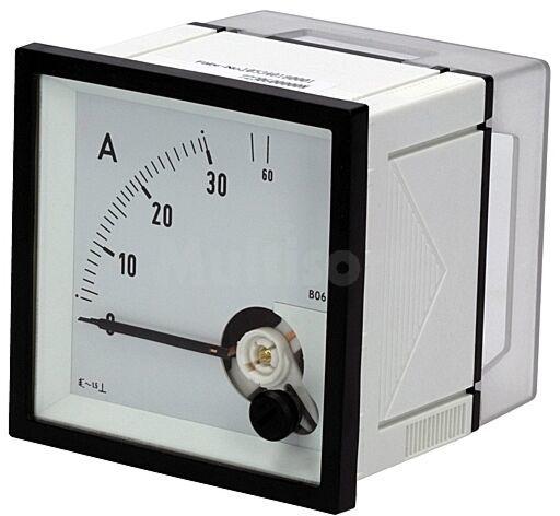 Panelowy miernik prądu AC analogowy 0 30/60A True RMS IP52 EQN72 30/60A