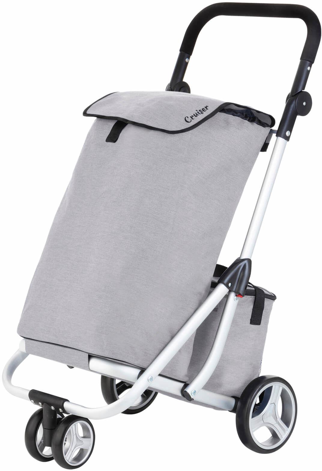 Wózek zakupowy trójkołowy Cruiser /szary/