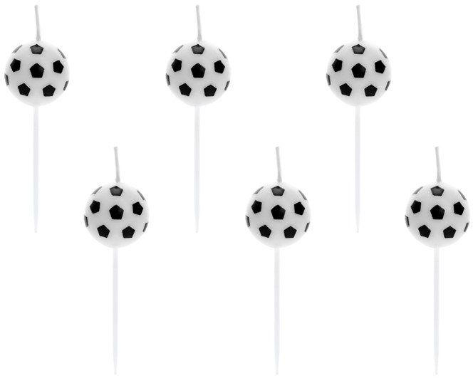 Świeczki urodzinowe Piłki 6 sztuk SCS-2