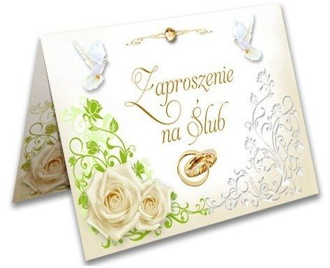 Zaproszenie ślubne Obrączki zx9200