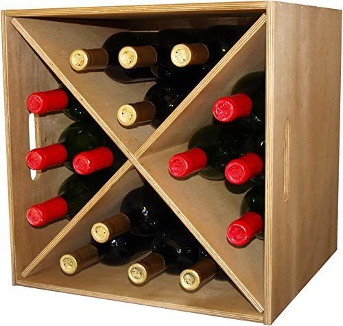 Expovinalia 246010  CAJON stojak na wino z jasnego drewna, dąb