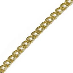 Łańcuszek 5mm złoty szlifowany