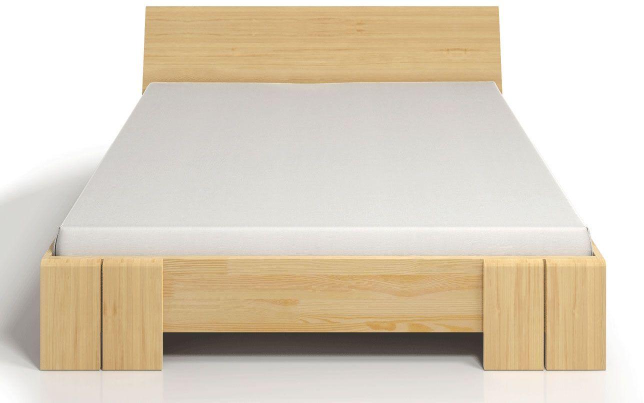 Drewniane wysokie łóżko skandynawskie Verlos 4X - 6 rozmiarów