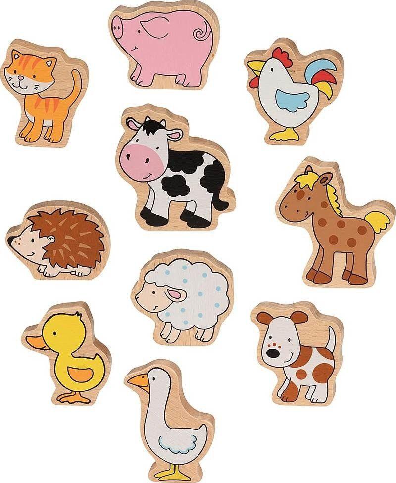 Figurki dla dzieci Bajkowa wieś 53820-Goki, zabawi drewniane