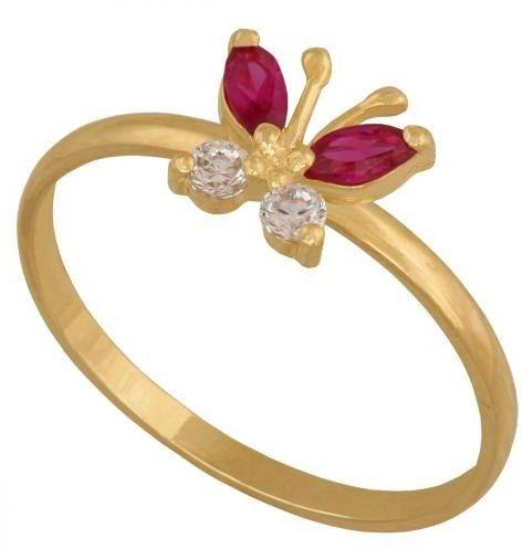 Złoty pierścionek młodzieżowy Py326ru