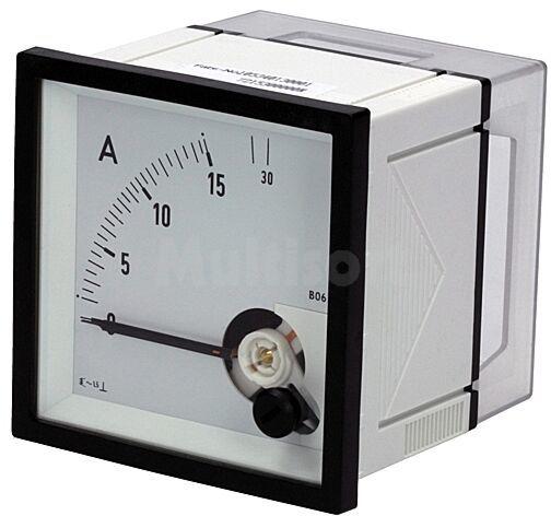 Panelowy miernik prądu AC analogowy 0 15/30A True RMS IP52 EQN72-15/30A