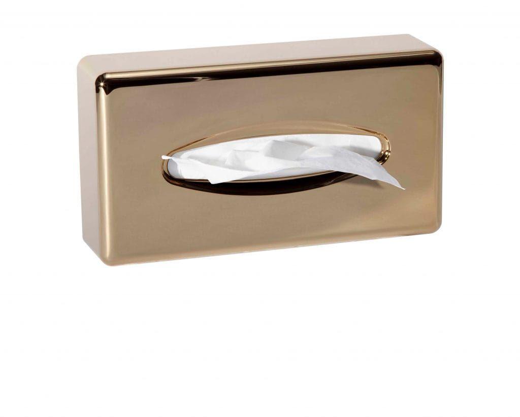 Stella pojemnik na chusteczki higieniczne/ABS złoty połysk 23.002-G