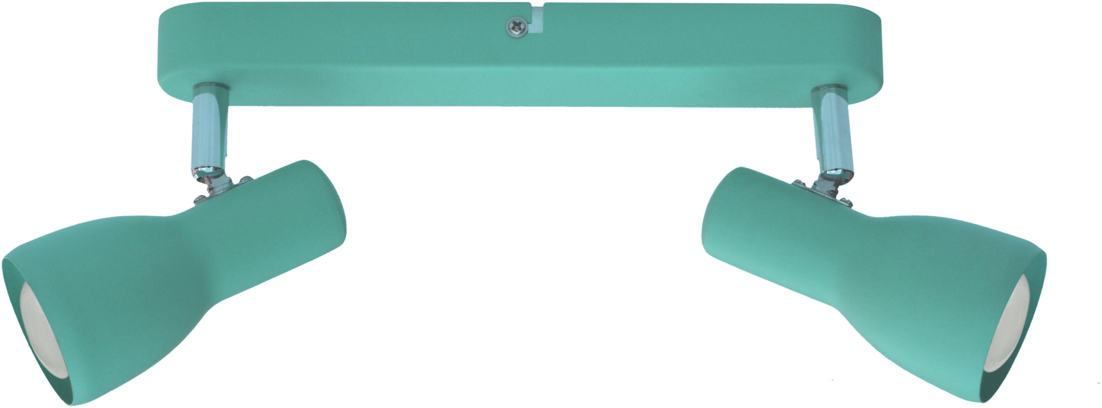 Candellux PICARDO 92-50595 oprawa oświetleniowa miętowy stalowy klosz 2X40W E14 36cm