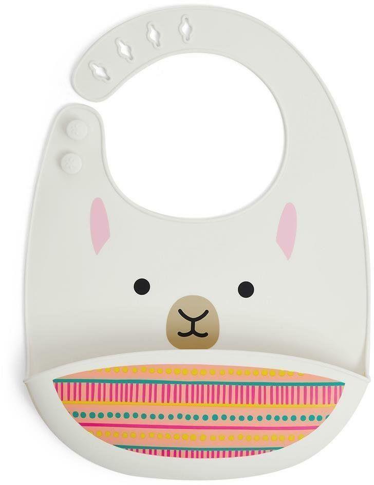 Śliniak silikonowy Zoo Lama 9I414910-Skip Hop, akcesoria dla dzieci