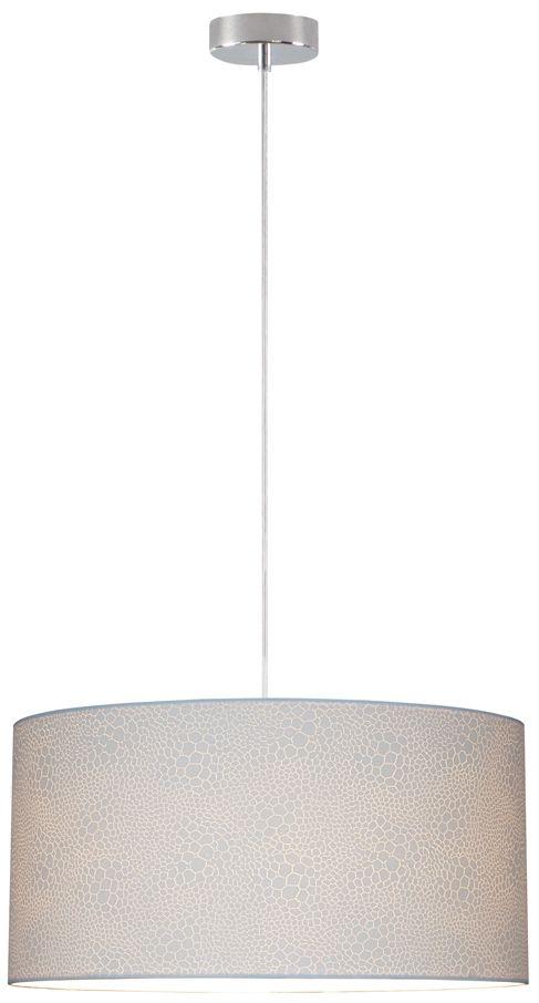 Spot Light 3561028 Leila lampa wisząca metal chrom/transparentny klosz papier biały (krokodyl) 1xE27 60W 50cm