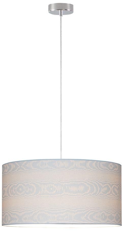 Spot Light 3562028 Leila lampa wisząca metal chrom/transparentny klosz papier biały (drewno) 1xE27 60W 50cm