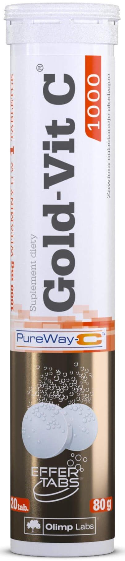 Gold-Vit C  1000 Smak Pomarańczowy Suplement Diety 20 Tabletek Musujących - Olimp Labs