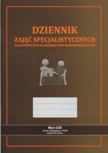 Dziennik zajęć specjalistycznych - logopedycznych [Men-I/28]