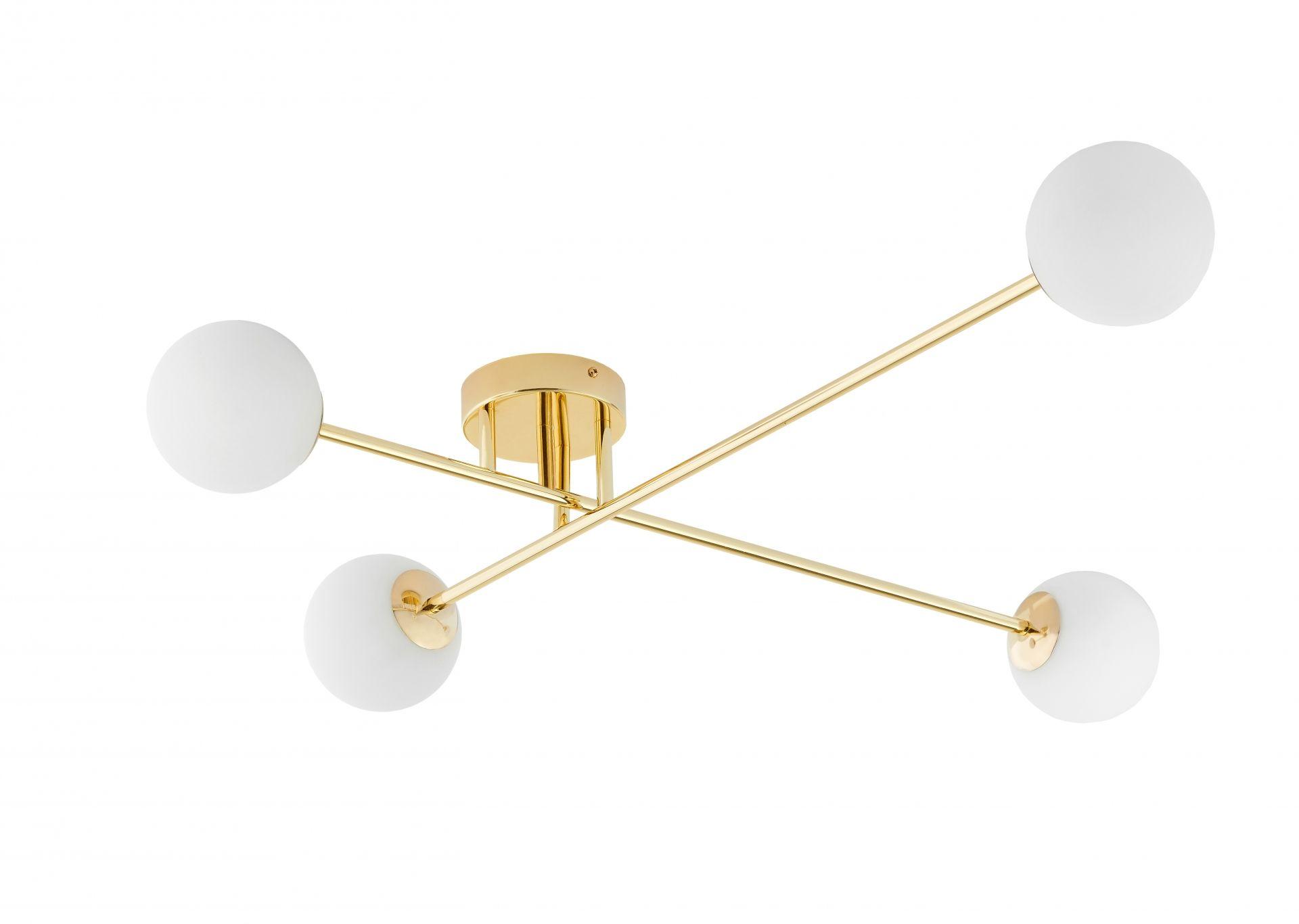 Plafon Astra 10771405 KASPA nowoczesna złota oprawa sufitowa